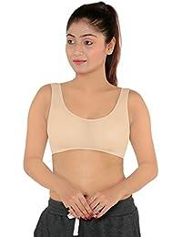 e2b072fd9083f Fashiol Present Non-Padded Wirefree Cotton Sports Bra(FIt Size Till 36)