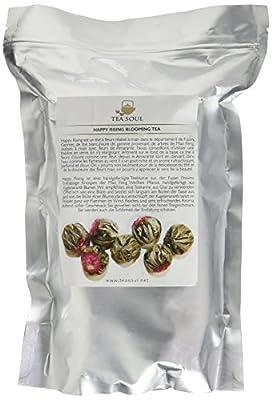 TEA SOUL Happy Rising Thé à Fleur en Feuilles avec Thé Blanc/Fleurs de Amarante 500 g