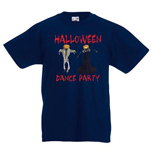 Kinder T-Shirt Coole Outfits Halloween Tanz Party Veranstaltungen Kostümideen (9-11 Years Dunkelblau Mehrfarben)