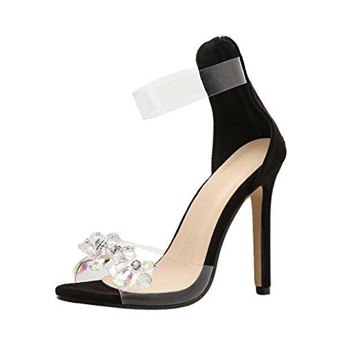 S&h-needra s&h, sandali donna nero nero m, nero (nero), 37 eu