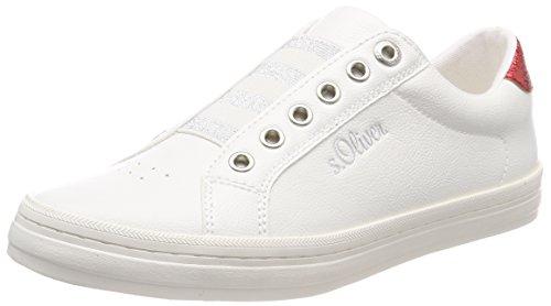 s.Oliver Damen 24622 Sneaker, weiß (white), 40 EU