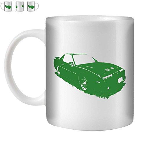 Stuff4 Tee/Kaffee Becher 350ml/Grün/1987 Firebird Trans Am GTA/Weißkeramik/ST10
