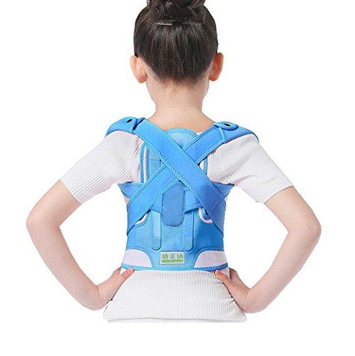 Evedaily - Faja correctora de postura para atar a la espalda/hombro para reforzar el apoyo para niños y adolescentes.