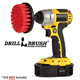 4 inch diameter drill powered scrubbing brush features nylon bristles, rugged construction, and a quarter inch quick change shaft. This brush fits securely in battery powered drills. Red stiff bristles are designed for heavy duty scrubbing an...