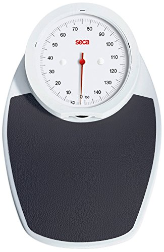 Seca - Bilancia pesapersone meccanica Viva 750, piatta, colore bianco e nero