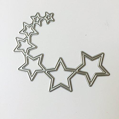 Ranuw Matrices De Découpe,Etoiles Metal Cutting Dies Pochoirs Scrapbooking Papier Cartes Craft Embossing DIY