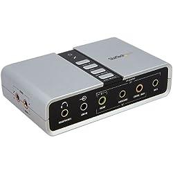 StarTech.com Adaptateur audio USB 7.1 avec audio numérique SPDIF - Carte son externe - USB (F) vers 2x Toslink (F) et 8x 3,5 mm (F)