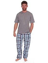 0ae203a84e Best Deals Direct UK Pijamas para Hombre Set Top Manga Corta   Tejido Largo  Pantalones De