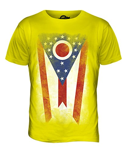CandyMix Bundesstaat Ohio Verblichen Flagge Herren T Shirt Zitronengelb