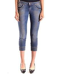Galliano Damen MCBI130063O Blau Baumwolle Jeans