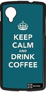 Hülle für Google Nexus 5 – Keep Calm and Drink Coffee - ref 945
