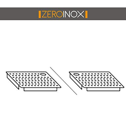 ZeroInox FALSOFONDO FORMENT VASCHE DX E SX – Verschiedene Größen – Edelstahl AISI 304 – für Restaurants, Hotel