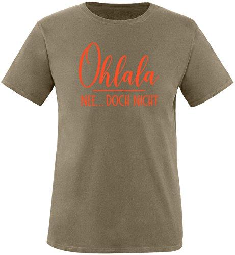 EZYshirt® Ohlala - Nee...doch nicht Herren Rundhals T-Shirt Oliv