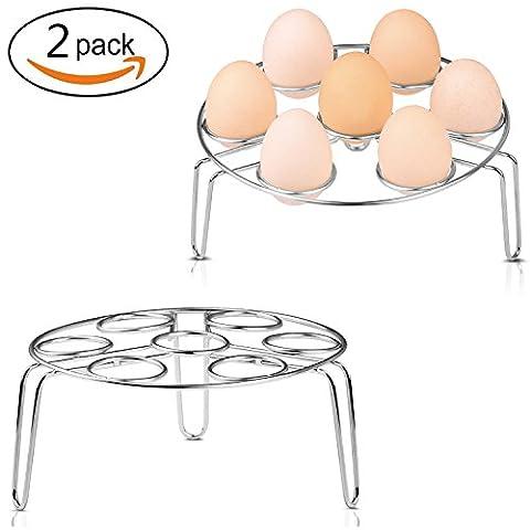 Rack de cuisson à la vapeur, Upintek 2Pack Racks à vapeur en acier inoxydable et porte-vapeur à oeufs pour la cuisinière à vapeur Cuisinière de cuisson Chef de cuisson vapeur Support de rack (3.1