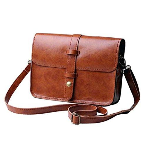 TIFIY Damen Jahrgang Retro Diebstahlsicher Safe Abdeckung All-Match Schultertasche Handtasche Mini Tote (Braun) (Mini-tote Braun)