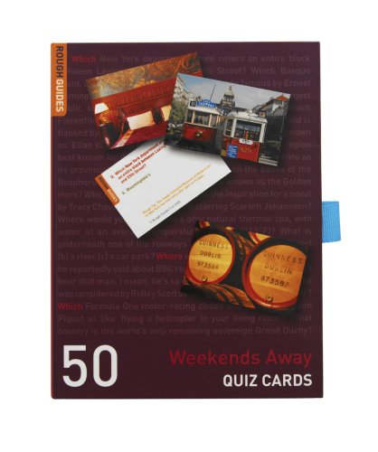 Talking Tables Rough Guides Weekends Away Quiz Card Game