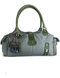 Playboy Women Bag Nylon/Leather Green/Grey PA1418