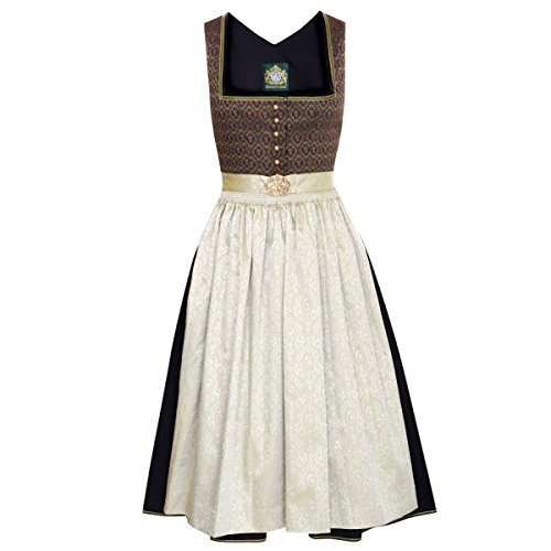 Hammerschmid Damen Trachten-Mode Midi Dirndl Brunnsee in Schwarz Traditionell