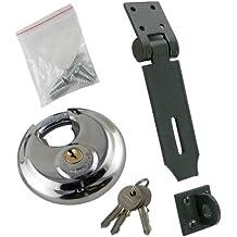 Pasador de Seguridad y Candado de Disco, Juego Muy Resistente con 2 Llaves