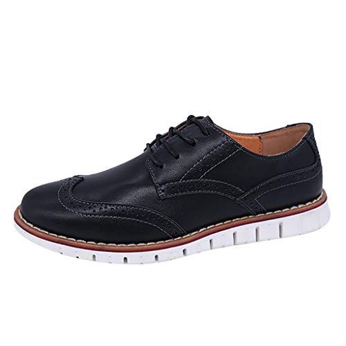 Wild Brock Geschnitzte Schnürschuhe,Herren Business Schuhe Casual Brock Schuhe Atmungsaktive Flache Lederschuhe Shoes for Men Yebutt (Men's Alpine Kostüm)