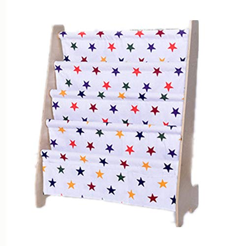 WanuigH Kinder-Bücherregal Kinderholz Storage Rack Sling Regal for Kinder, 63 * 28 * 76cm Bücherregale Toy Organizer (Farbe : Star, Größe : 63 * 28 * 76cm) -