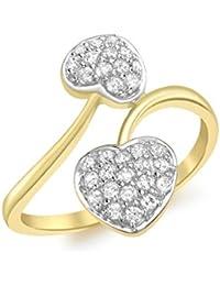 Carissima Gold Damen Ring, Gelbgold, Zirkonoxid , 56 (17.8), 1.48.6129