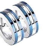 Blue Huggie Hoop Earrings - Stainless Steel - Best Reviews Guide