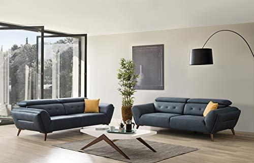 Design Stoff Garnitur Chemnitz 3er und 1er mit Relaxfunktion