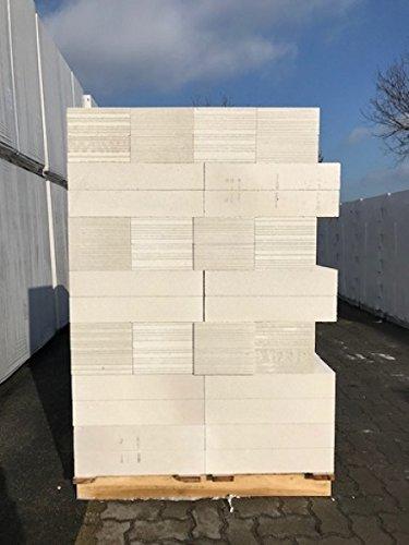 1 Palette Porenbeton Plansteine PP2/0,4 - 10 x 23 x 50 cm / 12,88 qm / inkl. 25Kg Porenbetonkleber