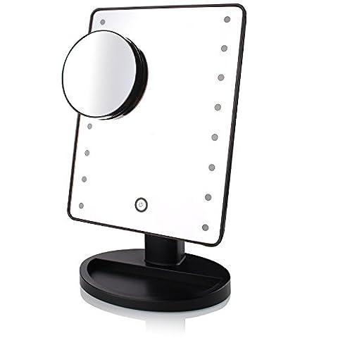 LED beleuchtet Kosmetikspiegel Make-up Spiegel mit, 10x Vergrößerung Spot Spiegel mit Touch Bildschirm Dimming, High Definition Klarheit Kosmetikspiegel
