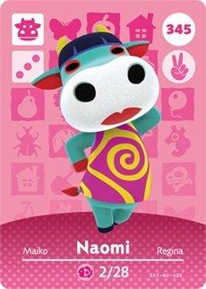 Naomi – Nintendo Animal Crossing Happy Home Designer Series 4 Amiibo Karte – 345