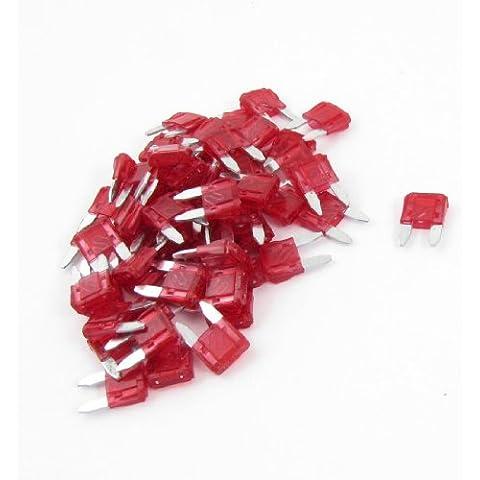 Sourcingmap a13071500ux0002 - 60pcs 10a 10a automático de mini palas fusibles rojos un coche