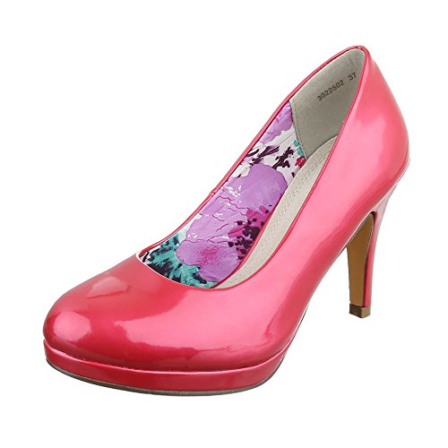 Ital-Design , chaussures compensées femme Rot Rosa