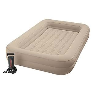 Intex 66810 Airbed Lit gonflable Enfant Floque + Gonfleur de Voyage - Couleur Assortie