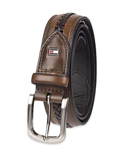 Tommy Hilfiger - Cintura da uomo in tessuto Marrone 105