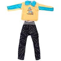 Vestiti Barbie Doll Abbigliamento Casual In Forma Ken - Maniche Lunghe T-shirt E Pantaloni