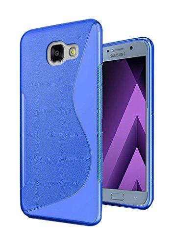 Lapinette SL-a5-2017-bleu Cover in Gel ondata S per Samsung Galaxy A52017Blu