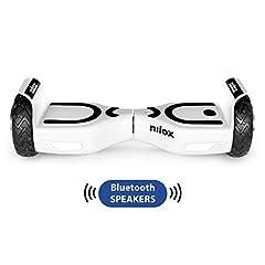 Idea Regalo - Nilox Doc 2 Hoverboard Plus, Unisex Adulto, Bianco, Taglia Unica
