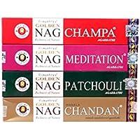 Golden Nag Geschmacksrichtungen: Chandan, Champa, Patchouli, Meditation Sticks preisvergleich bei billige-tabletten.eu