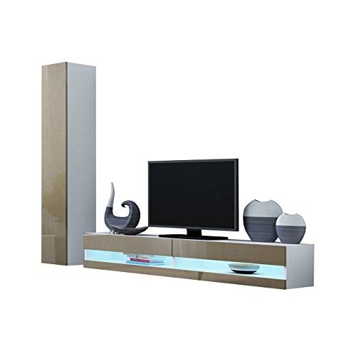 Hängeschrank Weiß Hochglanz Wohnzimmer »–› Preissuchmaschine.De