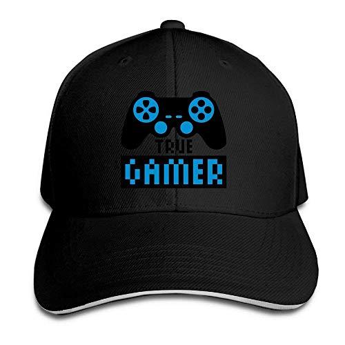 NDJHEH Hüte,Kappen Mützen Sandwich Baseball Cap Unisex Adjustable Trucker Style Hat True Gamer