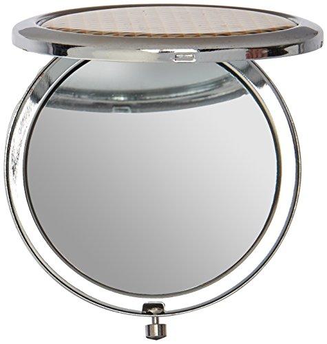 Unbekannt Fashioncraft Modern Silber geoemtric Design Kompakte Spiegel aus Metall, Gold - Metall-kompakt-spiegel