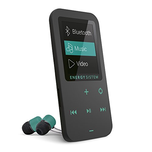 Energy Sistem MP4 Touch Bluetooth (8GB, Cuffie auricolari, Radio FM, micro SD) Colore Nero e Menta