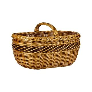 Aubry Gaspard Buff Wicker Basket
