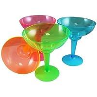 Plastica neon Margarita GLASSES (12pezzi)