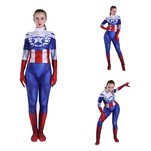 Avengers League Cosplay Captain America Freundin Peggy Carter Erwachsene Kinder Erwachsene Anime Kostüm Siamesische Strumpfhose Halloween Kostüm - Peggy Carter Cosplay Kostüm