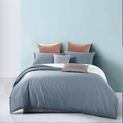 Rventric Bettbezug Mit Kissenbezug, Luxus Baumwolle Farbe: Rosa, Blau, Chrom, Beige, Doppelbett (King, Super - Design-bettwäsche-bettdecken Echo
