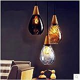 Lampadari per ristorante Lampadari in vetro 200mm * 340mm Lampadari a barre A- Ambra