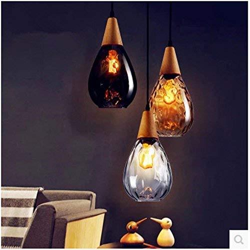 Arañas de restaurante lámparas de araña de cristal de 200 mm * 340 mm A- Ámbar