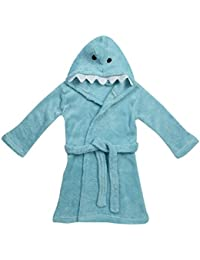 Zest Baby Animal Shark Fleece Hooded Bathrobe